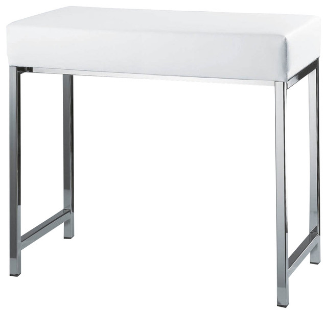 Harmony 504 Bench In Chrome And White Contemporary