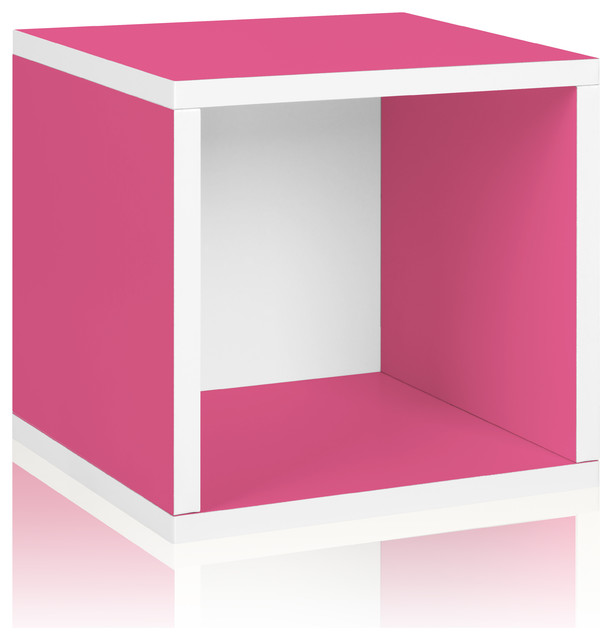 Way Basics Eco Stackable Storage Cube, Pink modern