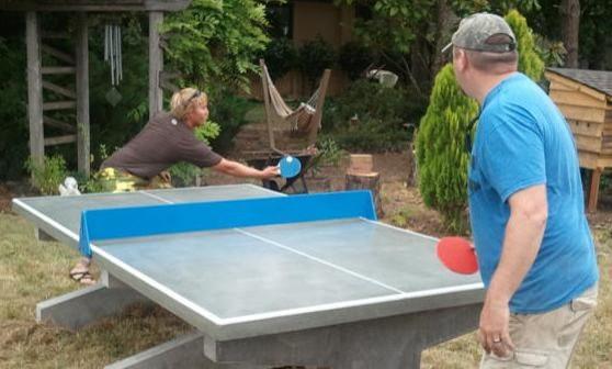 Outdoor Concrete Table Tennis Tables