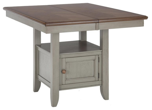 Counter Height Table With Storage : Jofran Counter Height Storage Dining Table in Pottersville Antique ...