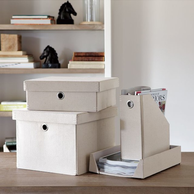 Workwear Canvas Home Office - Modern - Desk Accessories - by West Elm