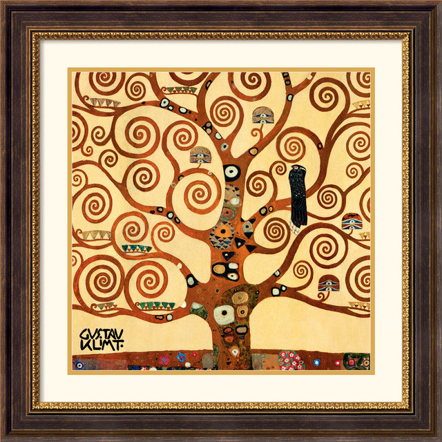 Tree Of Life (detail 1) Framed Print by Gustav Klimt traditional-prints-and-posters