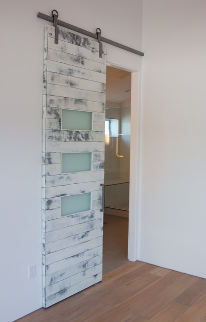 White Weathered Contemporary Barn Door - Contemporary - phoenix - by ...