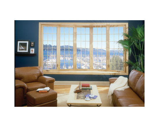 Bay and Bow Windows: Custom-Made, Energy-Efficient  Windows - The expanded view offered by this 5-lite Bow Window allows a wonderful view to the outdoors. Photo by Alside