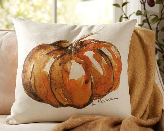 Painted Pumpkin Patch Pillow Cover -