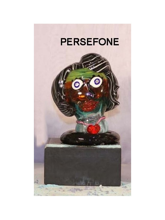 Murano Glass Sculptures and Figurines - Murano Glass Persefone bust - COA and made to order.  More available so please contact us