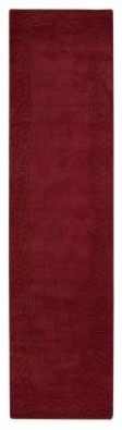 "Home Decorators Runner Rug: Cyrus Burgundy 2' 9"" x 14' contemporary-rugs"