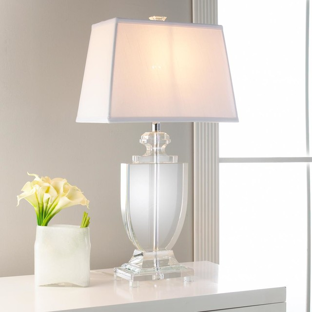 silhouette crystal urn table lamp lamp shades by shades of light. Black Bedroom Furniture Sets. Home Design Ideas