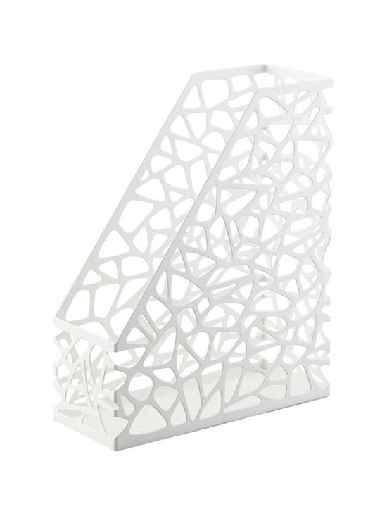 Nest Magazine Holder, White -