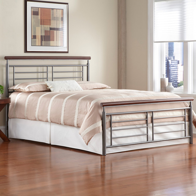 Fontane Metal Bed - Modern - Beds - atlanta - by Iron Accents