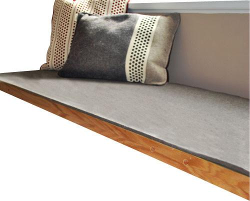 felt bench cushion natural gray natural gray 18 5