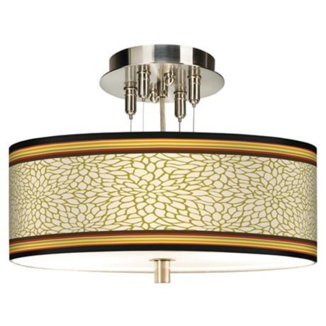 Stacy Garcia Spice Dahlia Giclee Ceiling Light contemporary-flush-mount-ceiling-lighting