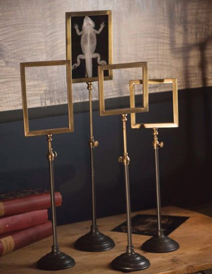 Telescoping Brass Frame Stands - Eclectic - Picture Frames ...