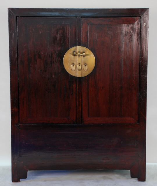 Antique Chinese Ming Style Two Door Large Cabinet - Asian - new orleans - by Silk Road Collection
