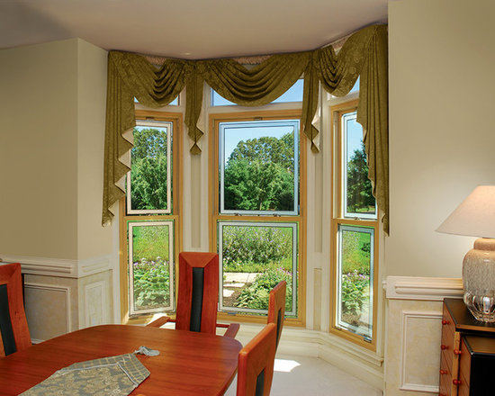 Thermal Industries - Double-Hung Windows with Honey Oak Woodgrain -