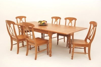 Casual Home Solid Wood 7 Piece 66 96 Inch Dining Table Set
