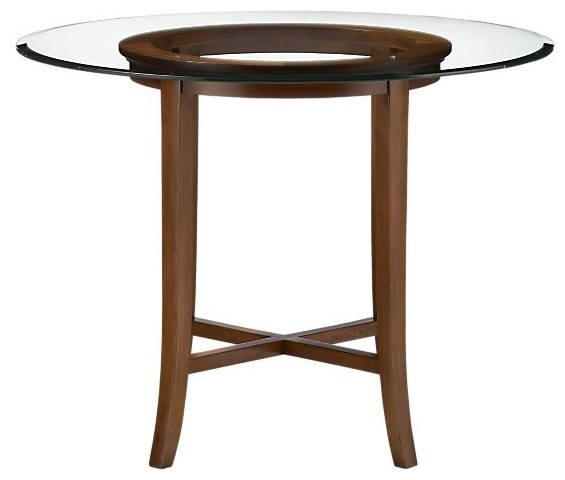 Halo Cognac 36 High Dining Table With 48 Glass Top