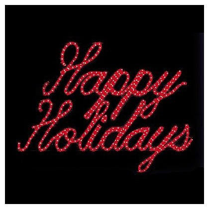 Lighted Happy Holidays Outdoor Sign - Outdoor Christmas Decorations ...