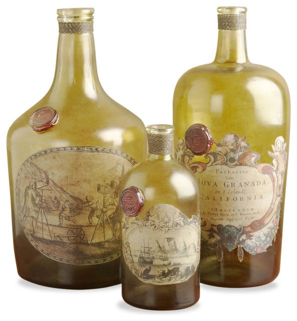 Interlude Westwood Hills Bottles - Set of 3 transitional-vases
