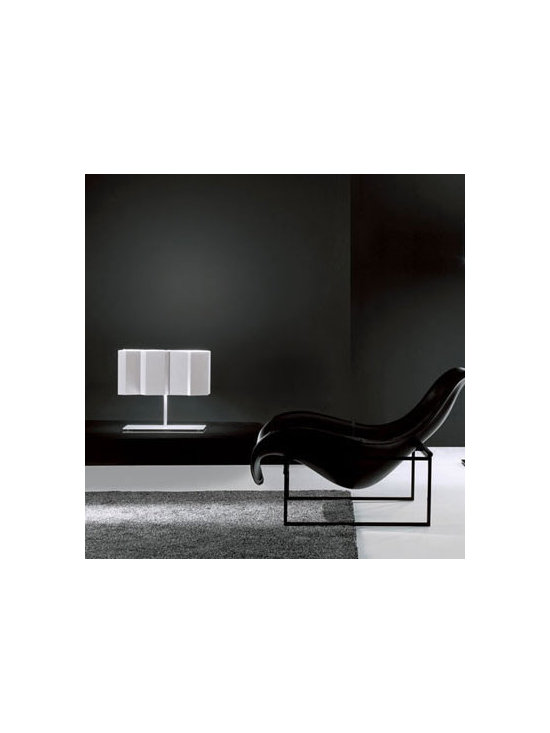 FOLD TABLE LAMP BY PALLUCCO LIGHTING - Fold Table light from Pallucco is part of the collection of lights with lamp shades that create optical effects.