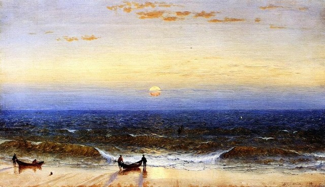 Sanford Robinson Gifford Sunrise, Long Branch, New Jersey   Print traditional-artwork