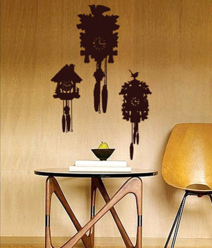 Coo coo clocks modern wall decals los angeles by viesso - Modern coo coo clock ...