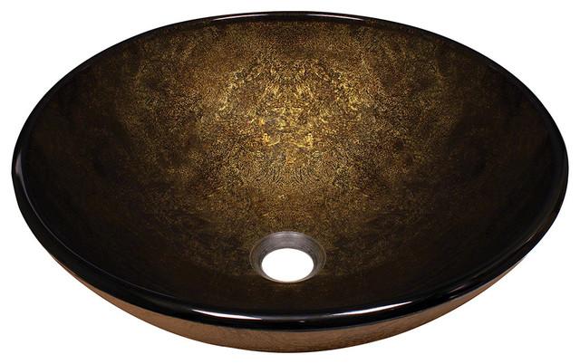 MR Direct 637 Foil Undertone Glass Vessel Sink, Brushed Nickel, *No Faucet*, No modern-bathroom-sinks