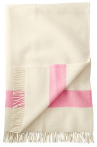 Hudson's Bay Capote Throw & Pink Stripe Throw modern-throws