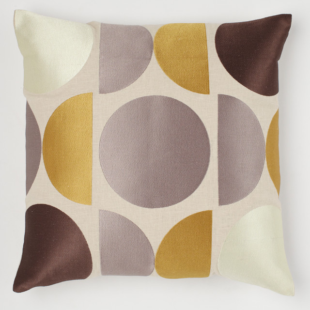 Mod Pillow, Buttered Toast - Modern - Decorative Pillows - by Emma At Home