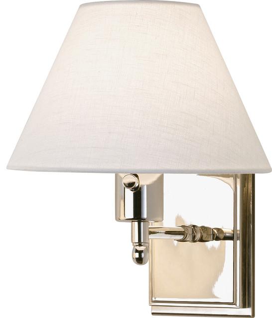 Meilleur Single Swing Arm, Nickel transitional-wall-lighting