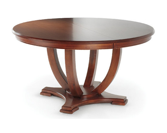 Woodcraft - Milano Table - With its beautiful curved lines of solid maple and auburn stain for added depth, this table is a stunner. It's remarkably well made so it withstands the wear and tear in your dining room, but you might also love it in your foyer.