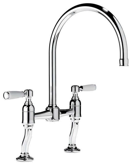 Samuel Heath Hole Two Handle Kitchen Faucet traditional kitchen faucets