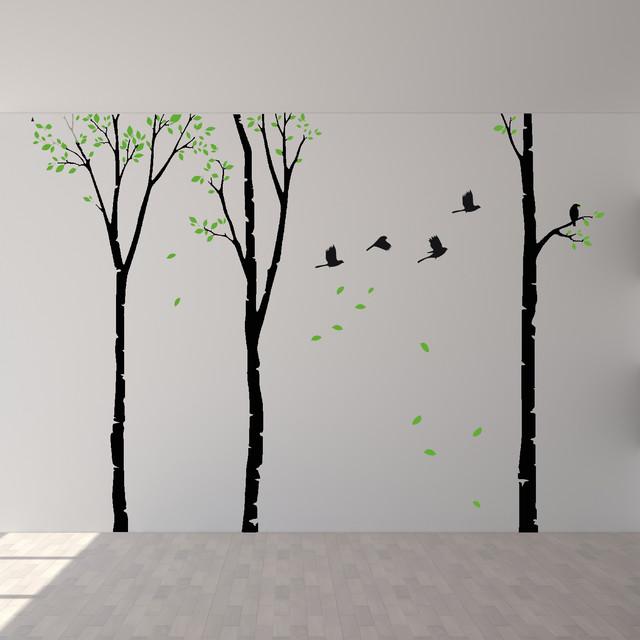 Birch Wall Decals Tree Birds Wall Stickers Bedroom Nursery