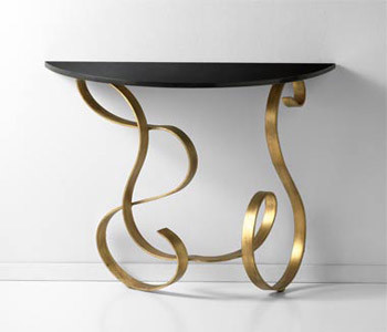 Gold Leaf Small Console Table traditional-side-tables-and-accent-tables