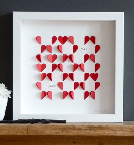 Love Hearts Framed Picture contemporary-artwork