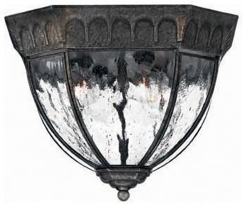 Hinkley Lighting 1713BG Regal Black Granite Outdoor Flush Mount traditional-outdoor-ceiling-lights