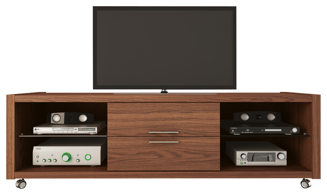 Belvedere 1.0 TV Stand, Mocha - Contemporary - Entertainment Centers And Tv Stands - by ...