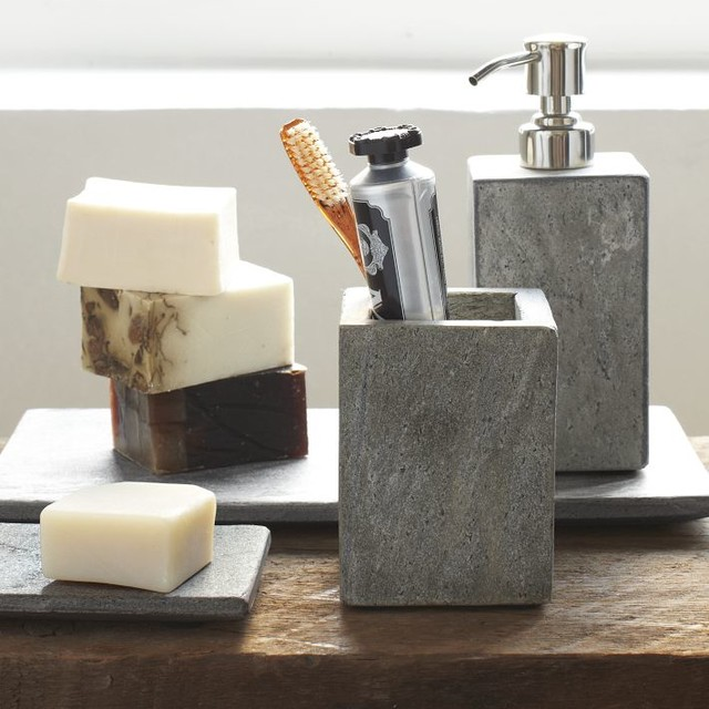 Slate bath accessories modern bathroom accessories for Looking for bathroom accessories