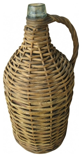 French Wicker Demijohn Eclectic New York By Second