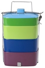 Melamine Lunch Box X-large In Peace, Kiss And Glamourama Colours modern-lunch-boxes-and-totes
