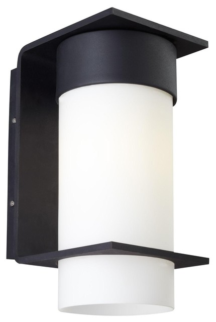 Lit Palm Lane Small Outdoor Light in Opal contemporary-outdoor-lighting