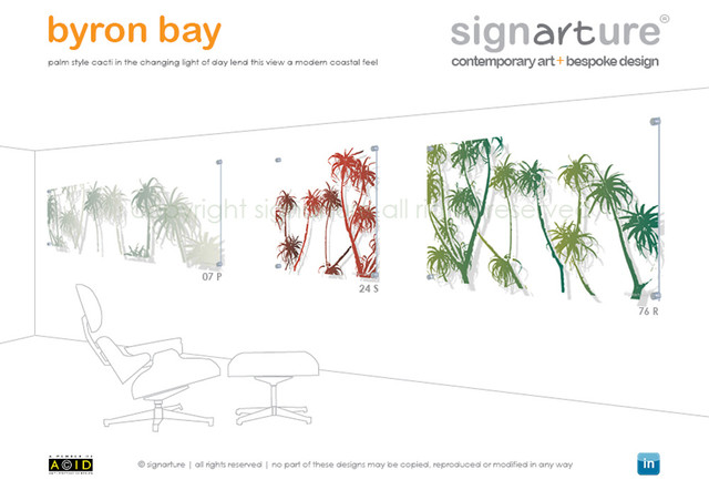 signarture 'byron bay' perspex artworks contemporary-artwork