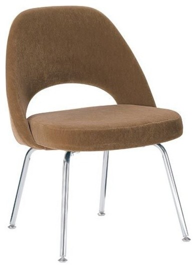 Saarinen Executive Side Chair W Metal Legs Fabric Design Within Reach Modern Dining Chairs