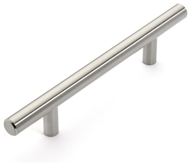 "European Style Satin Nickel Bar Pulls, 6-3/4"" Bar Pull - Modern - Cabinet And Drawer Handle ..."