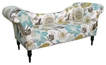 Skyline Roll Arm Chaise - Gorgeous Pearl modern-chairs