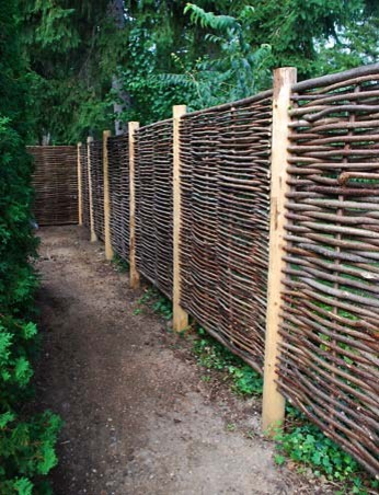 Hazelwood Hurdle Fence Panel tropical-home-fencing-and-gates