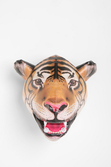 Inflatable Tiger Head eclectic accessories and decor