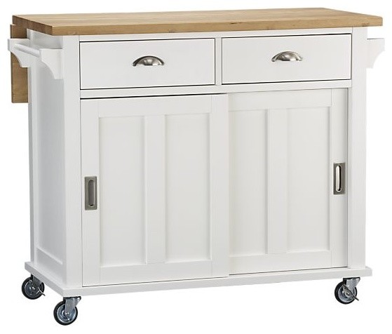 Belmont White Kitchen Island traditional-kitchen-islands-and-kitchen-carts