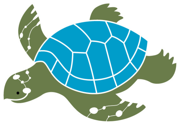 Sea Turtle Stencil for Painting - Contemporary - Wall Stencils - by My Wonderful Walls