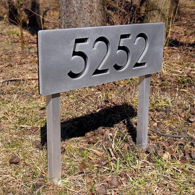 Modern home address plaques